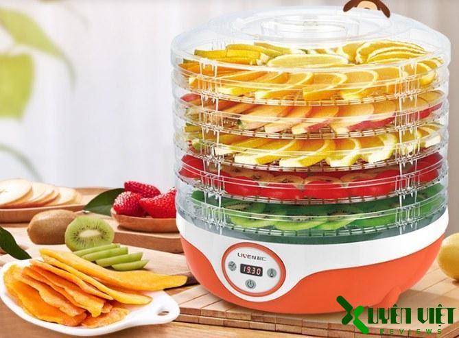 chọn máy sấy hoa quả có khay nhựa nguyên sinh