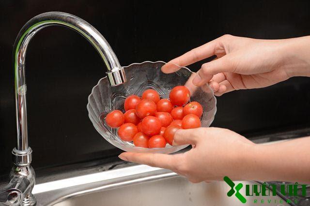 rửa sạch thực phẩm