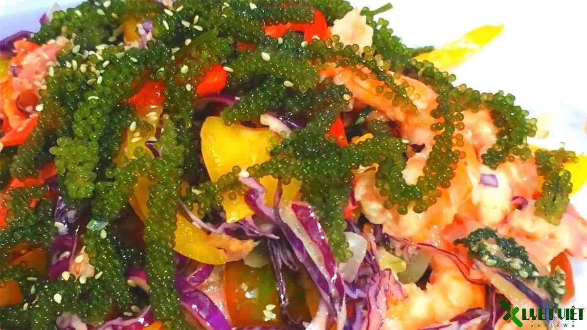 salad rong nho bốn mùa