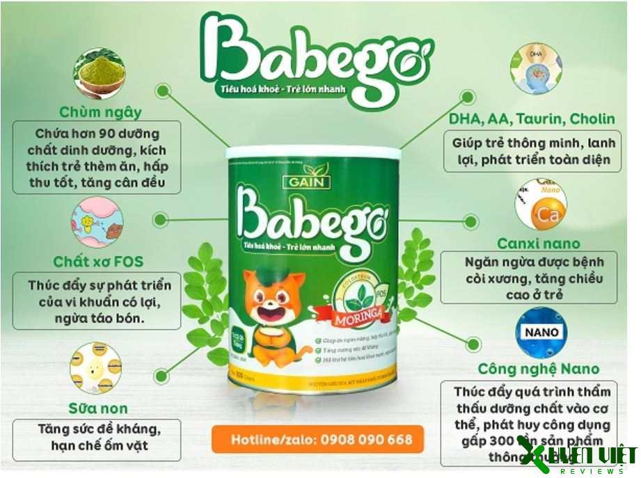 sữa babego có công dụng gì