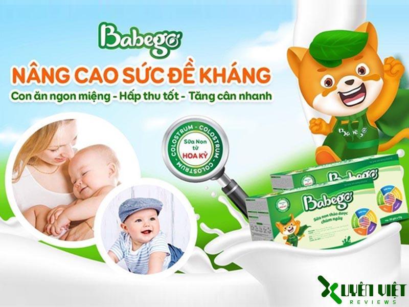 thiết kế bao bì sữa non thảo dược chùm ngây babego 3